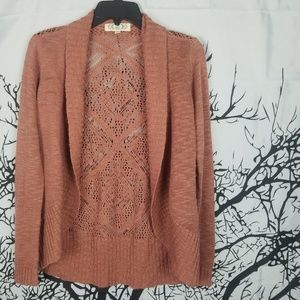 Pink Rose | Woven Long Sleeve Shrug Open Front   s